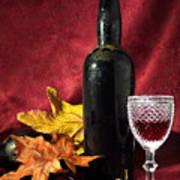 Old Wine Bottle Poster