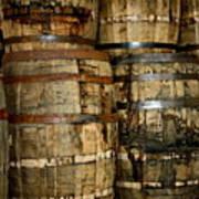 Old Wood Whiskey Barrels Poster