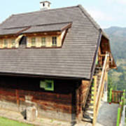 Old Wooden House On Mountain Poster
