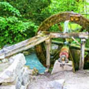 Old Wooden Water Wheel  Poster