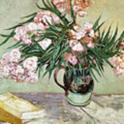 Oleanders And Books Poster