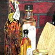 Olive Oil Bottles Poster