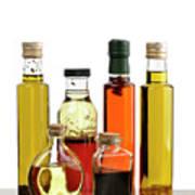Olive Oil,salad Dressing And Vinegar Poster