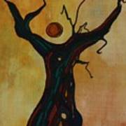 Olive Tree Woman Poster