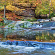 Olmsted Waterfalls Poster