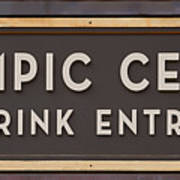 Olympic Center 1932 Rink Entrance Poster