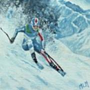 Olympic Downhill Skier Poster