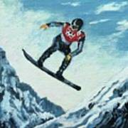 Olympic Snowboarder Poster