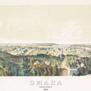Omaha, Nebraska Looking North From Forest Hill 1867 Poster
