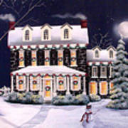 On A Cold Winter Evening Poster