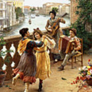 On A Venetian Balcony Poster