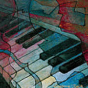 On Key - Keyboard Painting Poster by Susanne Clark