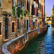 On The Canal-venice Poster