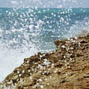 On The Edge Blowing Rocks Preserve Jupiter Island Florida Poster