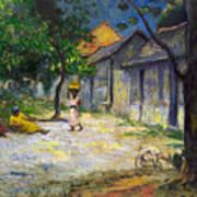 Village In Martinique Poster