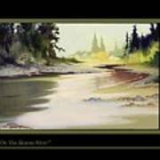 On The Skeena River Poster