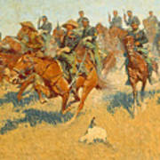 On The Southern Plains Frederic Remington Poster