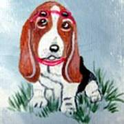One Cool Basset Hound Poster