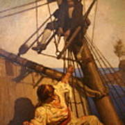 One More Step Mr. Hands - N.c. Wyeth Painting Poster