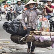 One Woman Street Life Hanoi Poster