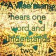 One Word Poster