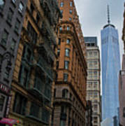 One World Trade Center New York Ny From Nassau Street Poster