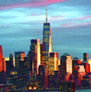 One World Trade Sunset Spectacle Poster