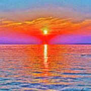 Oneida Lake Sunset Art Poster