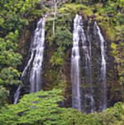 Opaekaa Falls - Kauai Poster