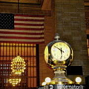 Opal Atomic Clock At Grand Central Poster