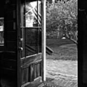 Open Door B-w Poster