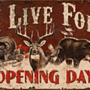 Opening Day Sign Poster