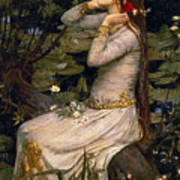 Ophelia Poster by John William Waterhouse