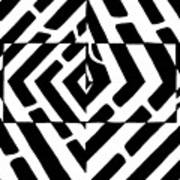 Optical Illusion Maze Of Floating Box Poster