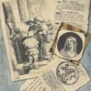 Optical Illusion With Prints And Pamphlets, L. Groskopf, C. 1746 Poster