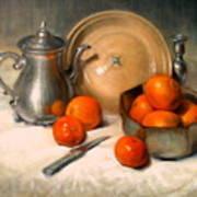Orange And Gray Poster