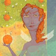 Orange Angel 1 Poster by Dennis Wunsch