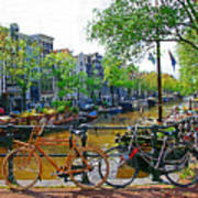 Orange Bike Poster