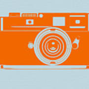 Orange Camera Poster by Naxart Studio