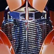 Orange Chevrolet Grille Poster