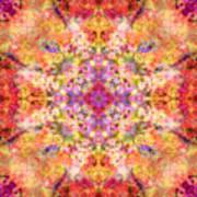 Orange Flower Mandala Poster