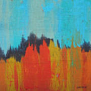 Orange Forest Poster
