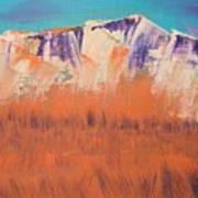Orange Grass Poster