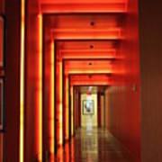 Orange Hallway Poster