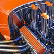 Orange Hot Rod Stacks Poster