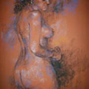 Orange Nude Poster
