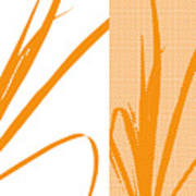 Orange Palm Poster