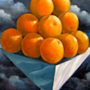 Orange Pyramid In Space Poster