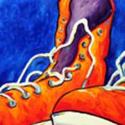 Orange Sneakers Poster