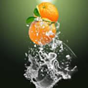 Orange Splash Poster